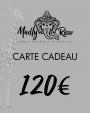 Carte cadeau 120€