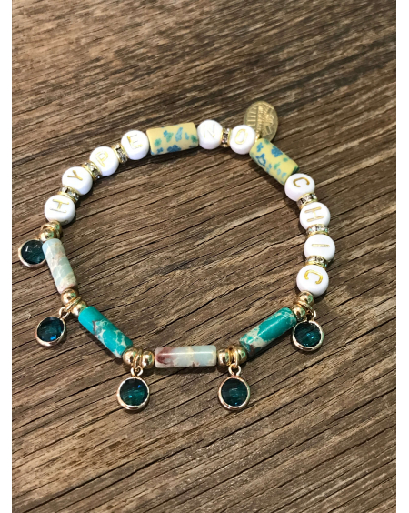 Bracelet gomme Hypnochic turquoise