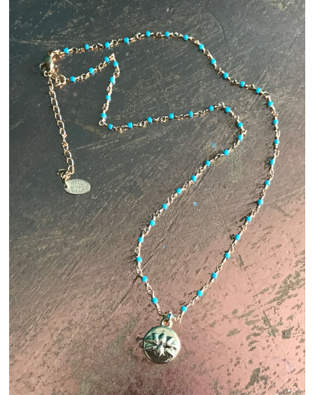 Collier Lucky Lotus turquoise - Hypnochic
