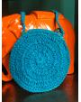 Pochette Poule perlée bleue