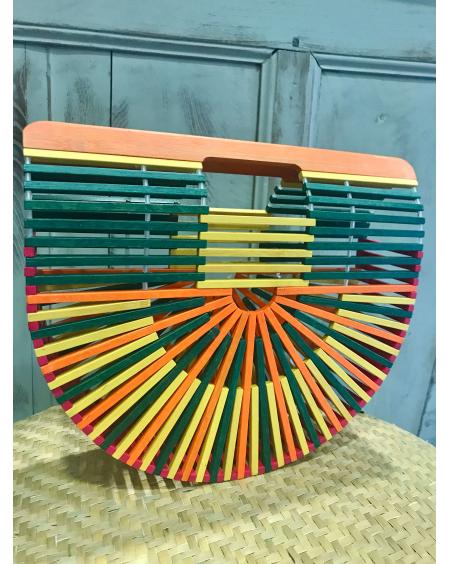 Sac demi-lune Bambou multicolore - Palme