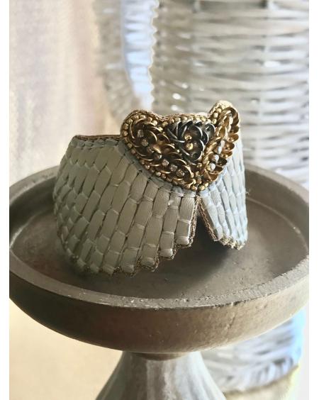 Bracelet Angy crème - Nahua