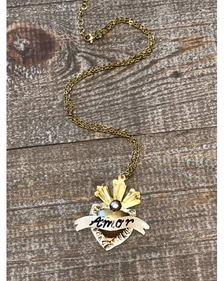 Collier Corazoncito liston Amor doré PM