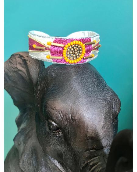 Bracelet Aprile lilas - Nahua