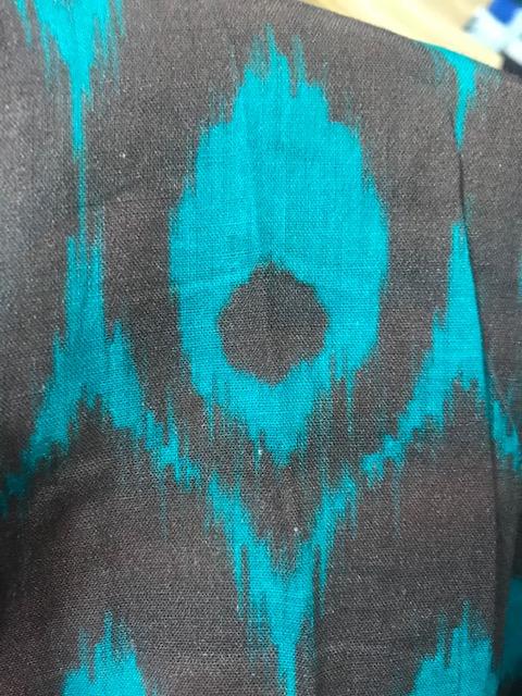Marron/turquoise